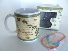 Hawaiian Islands Map Porcelain Mug with Flip-Flop Note Pad ABC Stores. Aloha