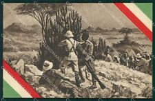 Militari Coloniali Africa Tricolore Ascari cartolina XF2991
