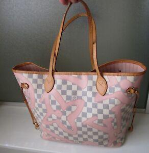 Louis Vuitton Limited Edition Damier Azur Tahiti Rose Ballerine MM Neverfull