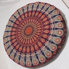 "32X6"" Round Mandala Pillow Meditation Cushion Pouffe Room Ottoman Seat Cover"