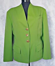 FRANCE-SAINT LAURENT PARIS GREENERY WOOL WOMEN'S JACKET BLAZER-SIZE:US12/EU40
