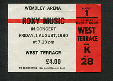 1980 Roxy Music Siouxsie and the Banshees Concert Ticket Stub Uk Flesh + Blood