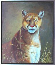 Puma Raubtier Großkatze Öl-Malerei 60 x 50 cm, Georges Miller *1968 Kapstadt