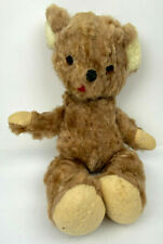 Plush Vintage 18 Inch Bear 1950's or early 60's w/ Closing Eyes