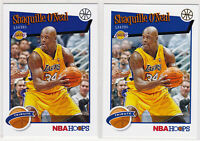 Shaquille O'Neal Lakers LOT 2019 NBA Hoops Holiday Snowflake + Base 282