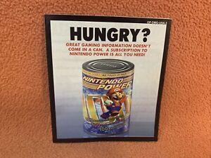 Hungry? Nintendo Power Game Boy Insert GP-DMG-USA-3 Blank Subscription Card