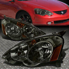 FOR 02-04 ACURA RSX SMOKED HOUSING AMBER CORNER HEADLIGHT REPLACEMENT HEAD LAMPS
