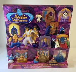 1996 McDonald's Happy Meal display~ FULL SET toys~ ALADDIN AND KING OF THIEVES