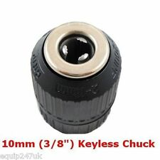 "10mm Keyless Chuck 3/8""x24 UNF filettatura femmina con/Senza filo Trapano BOSCH DEWALT"