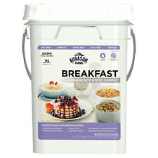Emergency Breakfast Food Supply Survival 162 Servings Storage Pail Kit NEW