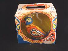 Ancien jouet oiseau tôle multicolore mécanique singing bird Russia St Petersburg