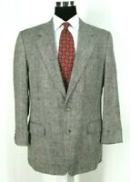 John Weitz Blazer 42 R All Season Silk Tweed Black Multi-Color Sport Coat Jacket