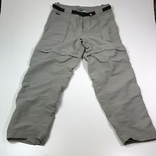 The North Face Nylon Convertible Zip Off Pants Trail Cargo Travel Free Shipping