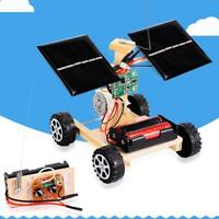 Educational Assembly RC Toys DIY Mini Solar Wooden Car Remote Control Model Kit