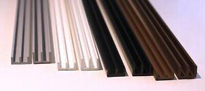Schiebetürprofile - Glasführungen - doppel U Profile für 4mm Glas o.ä.