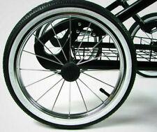 Kinderwagen Rad 14 Zoll, 44-288 mit weißen Rand, Metallspeichen, kugelgelagert
