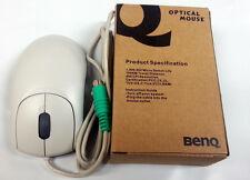 BENQ Optical Mouse 400cpi Resolution, PS2, White