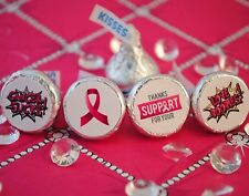 108 Breast Cancer Awareness Support Hershey Kiss Stickers