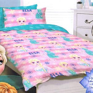 Disney Frozen - Elsa pink - Single/US Twin Bed Quilt Doona Duvet Cover set