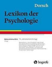 Dorsch - Lexikon der Psychologie (2019, Gebundene Ausgabe)