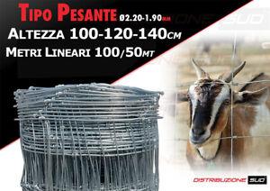RETE PASTORALE PESANTE PASTORIZIA METALLICA PECORE ALTEZZA 100-120-140 MT 50-100