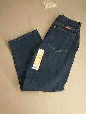Wrangler Boys Denim Jeans 16 Husky Blue Loose Fit 5 Pocket Dark Straight