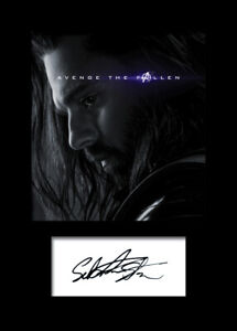 SEBASTIAN STAN #1 A5 Signed Mounted Photo Print - FREE DELIVERY