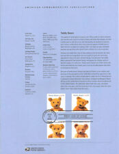 #0226 37c Teddy Bears #3653-3656a Stamps Souvenir Page