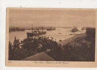 Port Said Entrance To Canal Egypt Vintage Postcard 296b