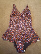 NEXT flattering Ladies Black Berry Print Swimming Costume Size 14, Brand NEW £32