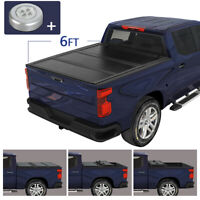 For 2019-2020 Ford Ranger 6.0 Ft Bed Hard Solid Tri-Fold Clamp-On Tonneau Cover