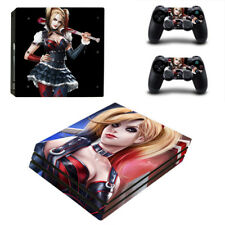 Sticker Harley Quinn Decal Cover Vinyl Skin For PS4 Pro Console + 2 Controllers