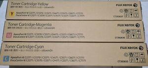 Fuji Xerox Genuine CT202635 CT202636 CT202637 C2271 C3370 C3371 Toner Set