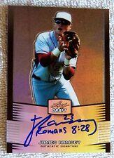 2012 Leaf Metal Draft Prismatic James Ramsey Auto Card #10/99 Cardinals