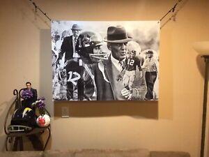 BIG 42x33 BEAR BRYANT Vinyl Banner POSTER Alabama Football Art Roll Tide Saban