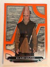 2017 Star Wars Galactic Files Reborn #TPM-19 Ki-Adi-Mundi ORANGE NrMint-Mint