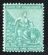 Cape of Good Hope GOGH Stamps 1885 1s Green (SG53) Mint £190