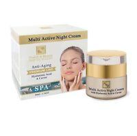 H&B Dead Sea Premium Line Multi Active Nigh Cream With Hyaluronic Acid & Caviar