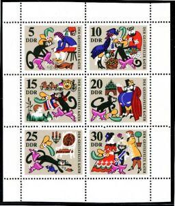 1426-31 DDR Kleinbogen ** gestiefelter Kater 1968