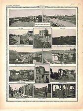 Belgique Ecluse de l'Yser Barrage Sacs Nieuport Maison Eclusier Vanne 1915 WWI