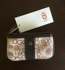 Rare Nwt Ugg Classic Gold Print Coin Purse with Key Ring