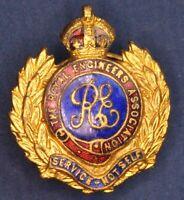 Royal Engineers Association lapel badge King's Crown *[16518]