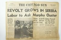 🔥1941 The Chicago Sun Newspaper VERY FIRST PRINTING Vol.1 No.1 WWII🔥