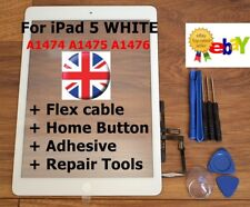For iPad 5 AIR 1 / A1474 A1475 A1476 - WHITE Touch Screen Digitizer Replacement