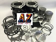 Banshee 64 mm Cylinders Pistons 18cc Pro Cool Head Domes Top End Rebuild Kit