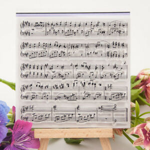 Music Notes Symbol Transparent Clear Silicone Stamp Seal DIY Scrapbooking Decors