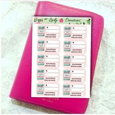 071 | Online Shopping Tracker Spend Shop Order Buy HOMEMADE Planner Stickers