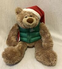 "15"" Hallmark Plush The North Pole Teddy Bear"