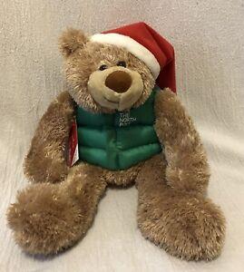 "15"" Hallmark Plush The North Pole Teddy Bear"