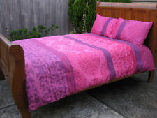 5P MOROCCAN Pink Purple QUEEN Quilt Cover Set EUROS Yarn Jacquard Doona Duvet